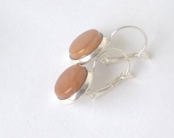 Tagua earrings - vegetable ivory on silver Stud Earrings
