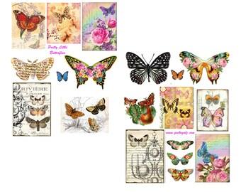 Pretty Little Butterflies Collage Set