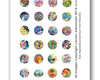Circles 1 Inch - Lauren Alexander Mix 1 - 2013 PDF download art