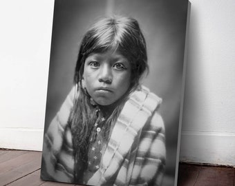 Native American Indian Canvas Print, Ah Chee Lo ca. 1905, Indigenous Americans, American Indian, indigenous people, NA26C