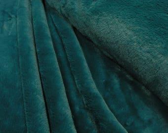 Faux fur Fabric uni petrol 0.54yd (0,5m) 002776