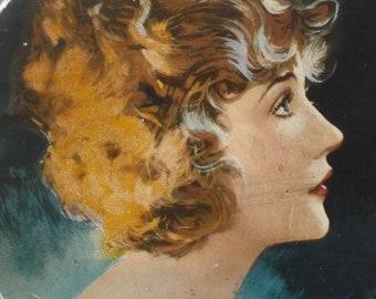 Antique Beauty Box Tin Betty Compson Film Star Souvenir Art Deco 1920s 1930s