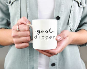 Goal Digger Mug, I'm A Goal Digger, Entrepreneur Mug, Boss Mug, Goal Digger Coffee Mug, Gift For Entrepreneur, Gift For Her, Girl Boss Mug
