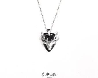 Whitby Jet & Sterling Silver Stag Pendant