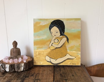 Dreams can come true, original , painting, Australian artist, new born, new mom, artist Carla Elizabeth Rose nursery art