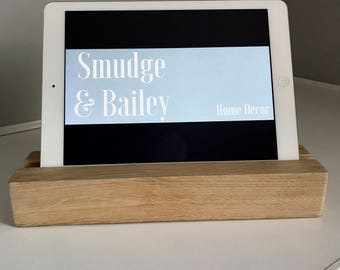 iPad Stand, Tablet Stand, Wooden iPad Stand, Christmas gift idea, Gift for Him, Gift for Her, technology stand