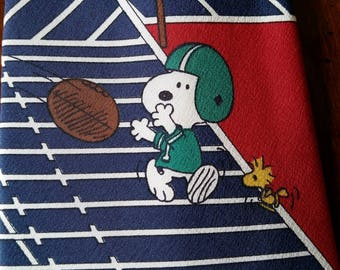 Snoopy Football Tie - 100% Silk