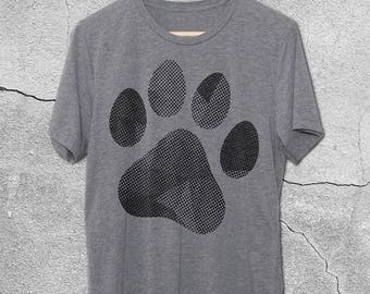 Paw Print Shirt - Retro Paw Print Shirt for Dog Lovers - Workout Gym shirts - Gifts for Dog Lovers - Paw Print T-shirt - Funny Pet Shirts -