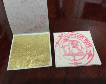 24K GOLD LEAF Sheet book 20, 50 and 100 - Food Grade Edible, Decoration, Art 30mmx30mm