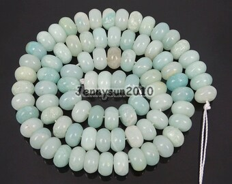 Natural Amazonite Gemstones Rondelle Spacer Loose Beads 15.5'' 6mm 8mm Strand Jewelry Design