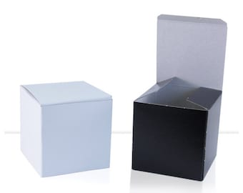 Shot Glass Gift Boxes - Choose Quantity and Color - Wedding Favors