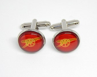 Arsenal cufflinks, arsenal fc club Football logo cufflinks, Arsenal simbol Football team, a gun cufflinks, Football soccer fc cuff link