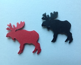 50 pc Red and Black    Paper Moose Confetti