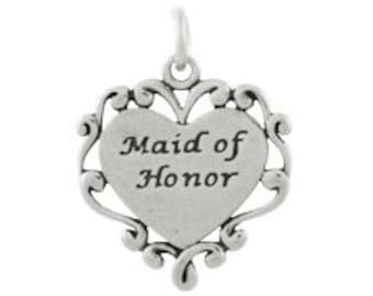 Sterling Silver Maid of Honor Charm (sku 5787 - CHSS-FAMILY-L)
