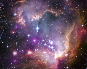 Small Magellanic Cloud (SMC) Giclee photo print fine art Hubble Space Telescope Poster Astronomy