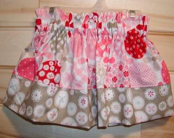 Girls skirt, Infant skirt, toddler skirt, Custom..Pink Floral N Gray..newborn  to 10 girls