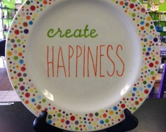 Create Happiness Plate