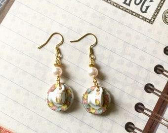 Tea Cup Earrings, Teacup and Saucer Earrings, Victorian Tea Earrings, Porcelain Tea Set Earrings, Miniature Tea Set Earrings, Doll House Tea