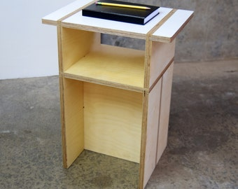 Modern End Table. Sturdy nightstand with painted top.