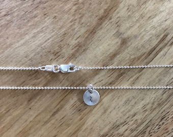 Tiny Initial Necklace - lower case