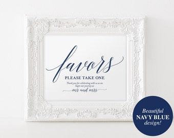 Wedding Favor Sign, Favors Sign, Wedding Favor Printable, Navy Wedding Sign, Wedding Printable, Template, PDF Instant Download #BPB320_75