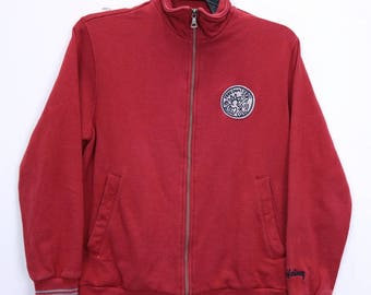 Vintage Keith Haring Freedom Sweatshirt Sweater Zipper Embroidery Logo Small Size Red colour