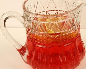 Pressed Glass Drinks Jug