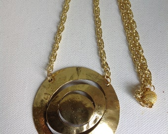 Gold Necklace, Gold Charm Necklace, Gold Pendant, Gold