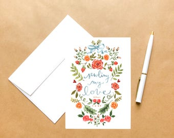 Sending My Love | Love Greeting Card