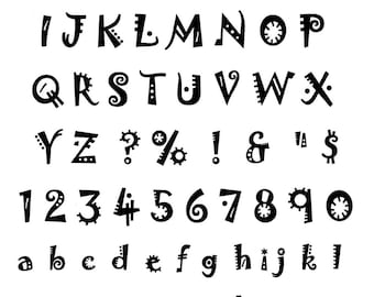 Frenzy Unmounted Rubber Alphabet Stamps set 2