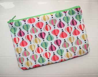 Colored pouch Cosmetic case with Balloons