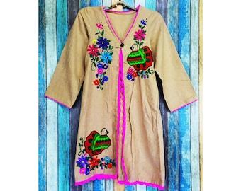 Hand Embroidered  Boho jacket, Festival jacket, Hippie jacket, Gypsy jacket, Boho Chic jacket