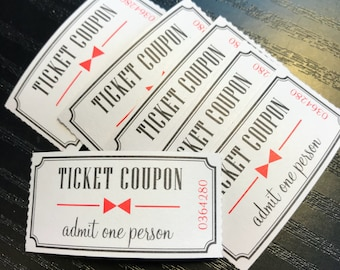 Vintage style tickets