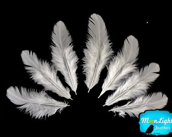 White Feathers, 1 Pack - NATURAL WHITE Hen Saddle feathers 0.10 Oz. : 3597