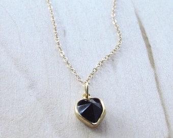 Black Onyx Heart Necklace