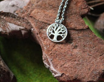 Tree Of Life Yggdrasil Silver Tree Viking Celtic Luck Steel Necklace