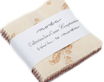 """Compassion Collections for a Cause Mini 2.5"""" Charm Pack by Howard Marcus Moda 42 2.5"""" Fabric Squares"""