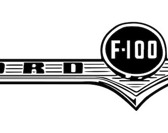 F100 Badge- Die Cut Vinyl Decal
