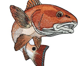 Redfish / Red Drum Embroidery Design