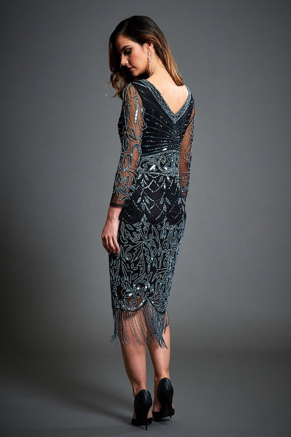 Großartig Flapper Stil Prom Kleid Zeitgenössisch - Hochzeitskleid ...