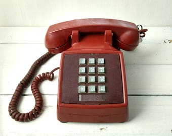 Red Telephone - Bell Systems, Western Electric Vintage Phone