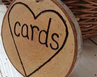 Rustic Wedding Card Basket Sign