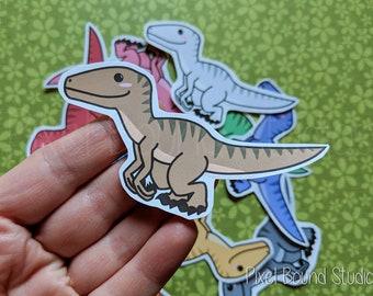 Chibi Utahraptor (Velociraptor) Stickers and Magnets