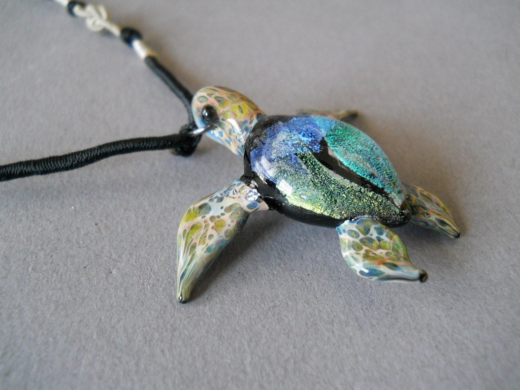 Blue sea turtle pendant seaturtle jewelry necklace zoom aloadofball Image collections