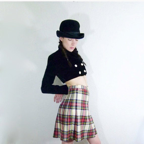 70s Scottish Plaid Pleated Mini