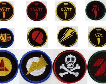 Art.P202 3D embroidered patches - small size