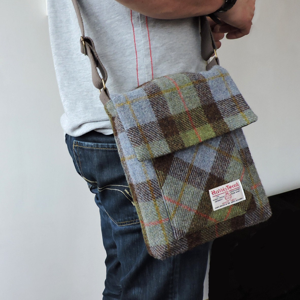 The Craggan, mens messenger bag pattern. iPad bag, man bag pattern ...