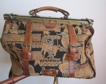 Vintage 70s Weekender Travel bag Aztek Ethno bag