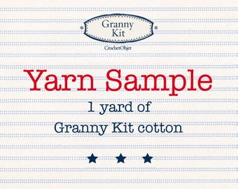 Granny Kit Cotton 1 yard yarn sample ready to ship by CrochetObjet