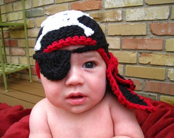 CROCHET  pirate hat special order forMichele